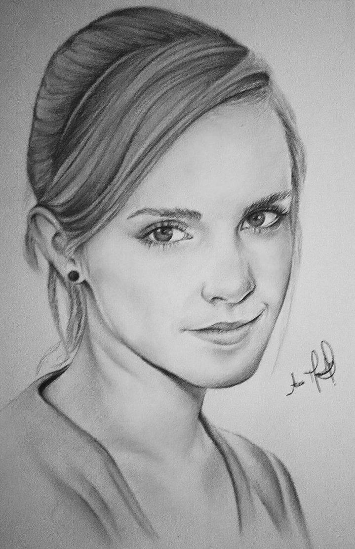Drawn portrait emma watson By DeviantArt on DeviantArt Emma