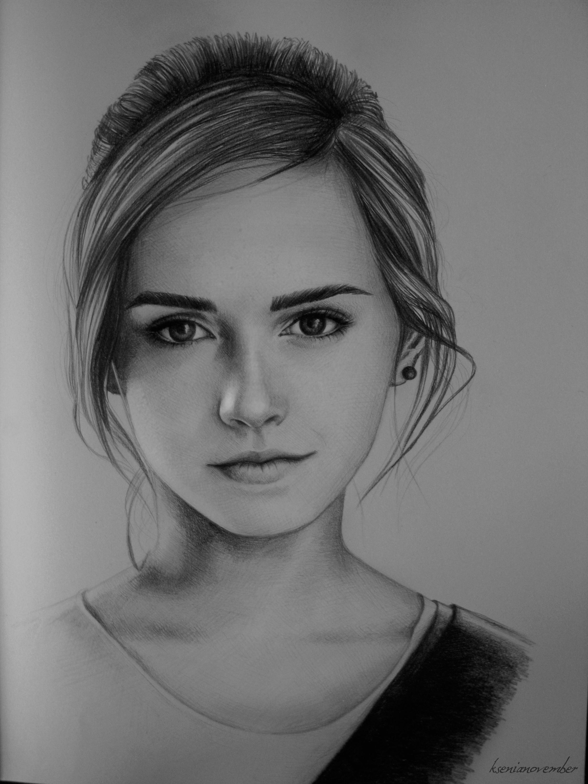 Drawn portrait emma watson By Watson Portrait by Portrait