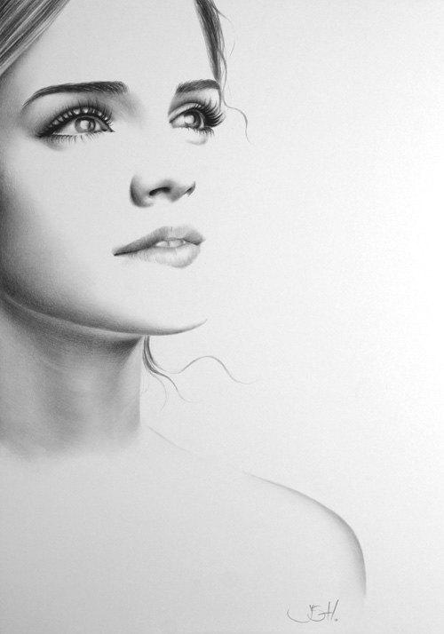 Drawn portrait emma watson Emma Drawing Signed Fine item?