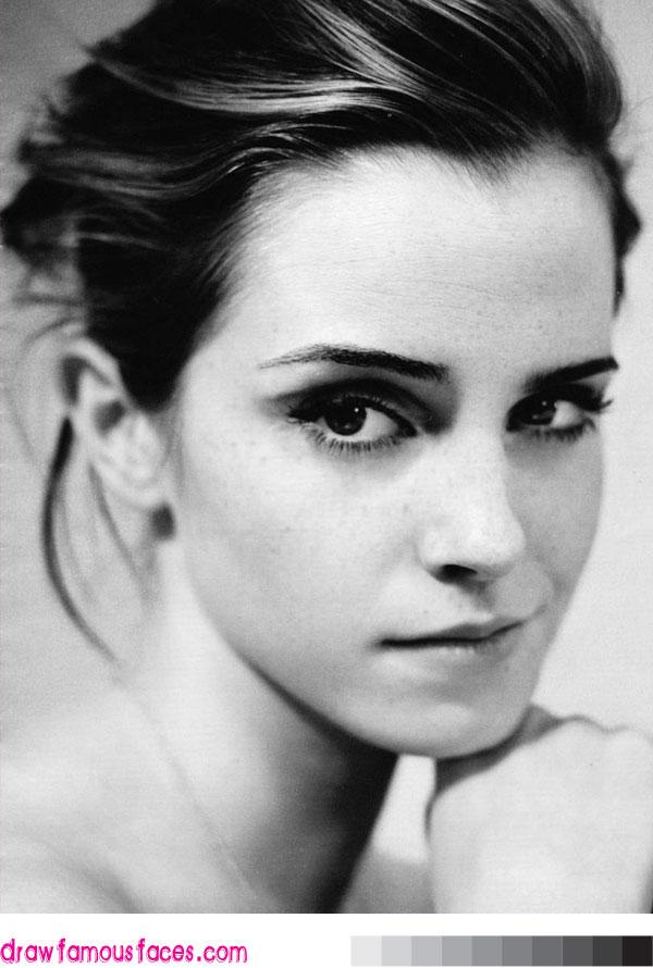 Drawn portrait emma watson Image: Draw Emma Watson Emma