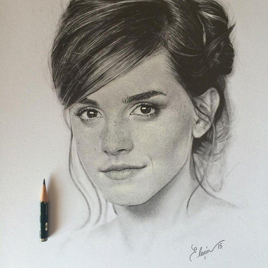 Drawn portrait emma watson ' on ' ' Emma