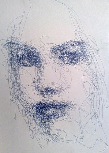 Drawn portrait expressive Pen this quick a Line