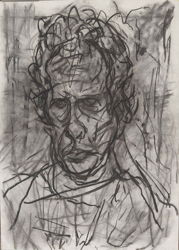 Drawn portrait expressive 18 Charcoal on Self 25+