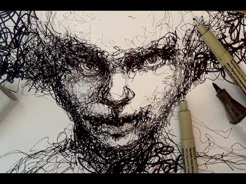 Drawn portrait expressive Portrait Drawing Tutorials Pen and