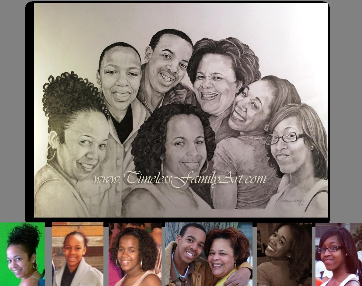 Drawn portrait family Bw Photos Portraits w Portrait