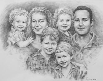 Drawn portrait family Portrait Portrait Portrait Portrait photo