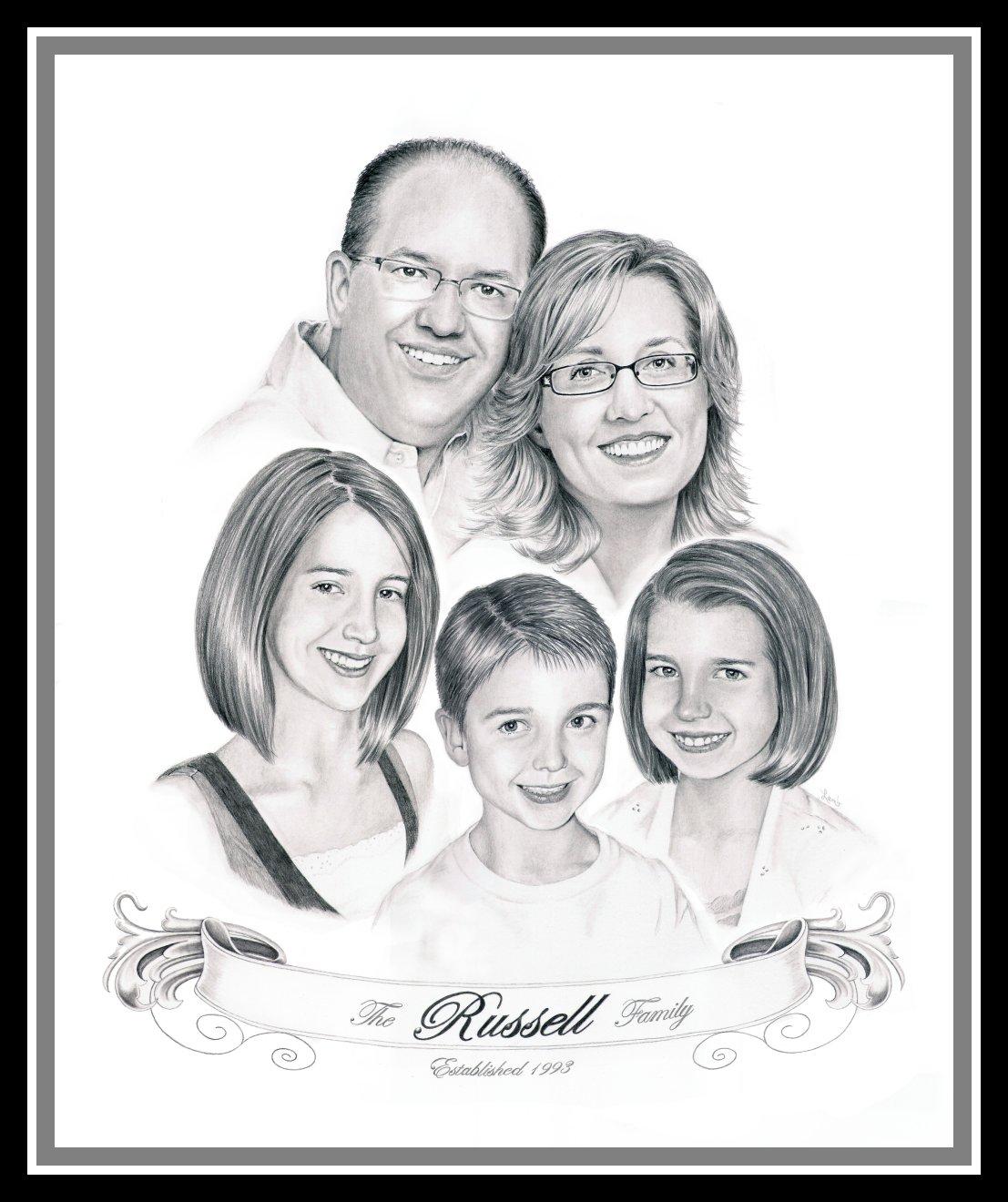 Drawn portrait family Debbie: recent becomes five lot
