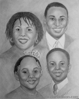 Drawn portrait family Portrait certain as person group