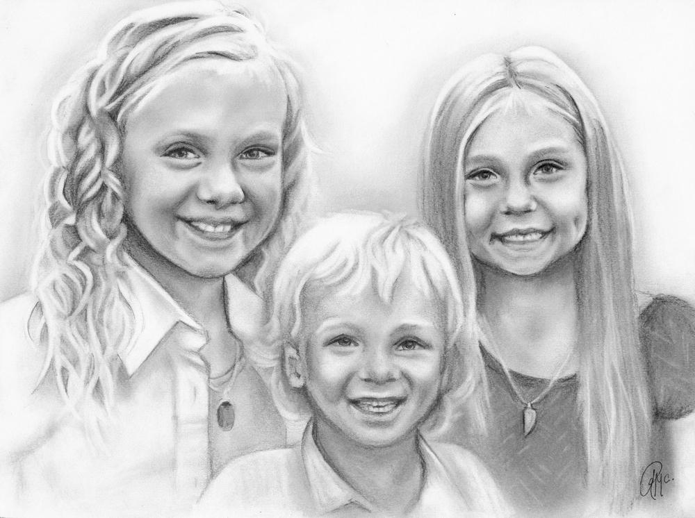 Drawn portrait family Portrait Rebeka art portrait pencil