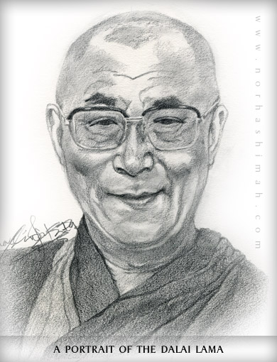 Drawn portrait famous Lama the People of Gallery