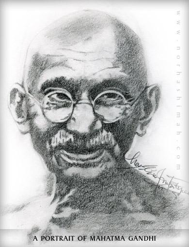 Drawn portrait famous Hand Mahatma Gallery of Mahatma