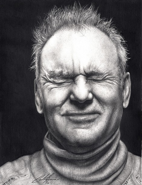 """Drawn portrait famous artist Pijeira Day Drawings """"Bill of"""