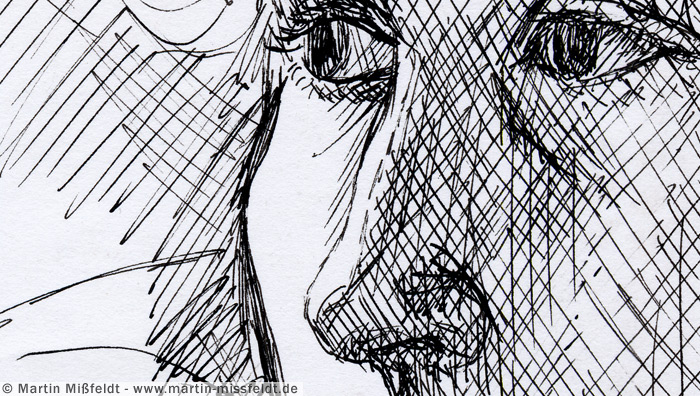 Drawn portrait fineliner Nose Fineliner drawing Eyes and