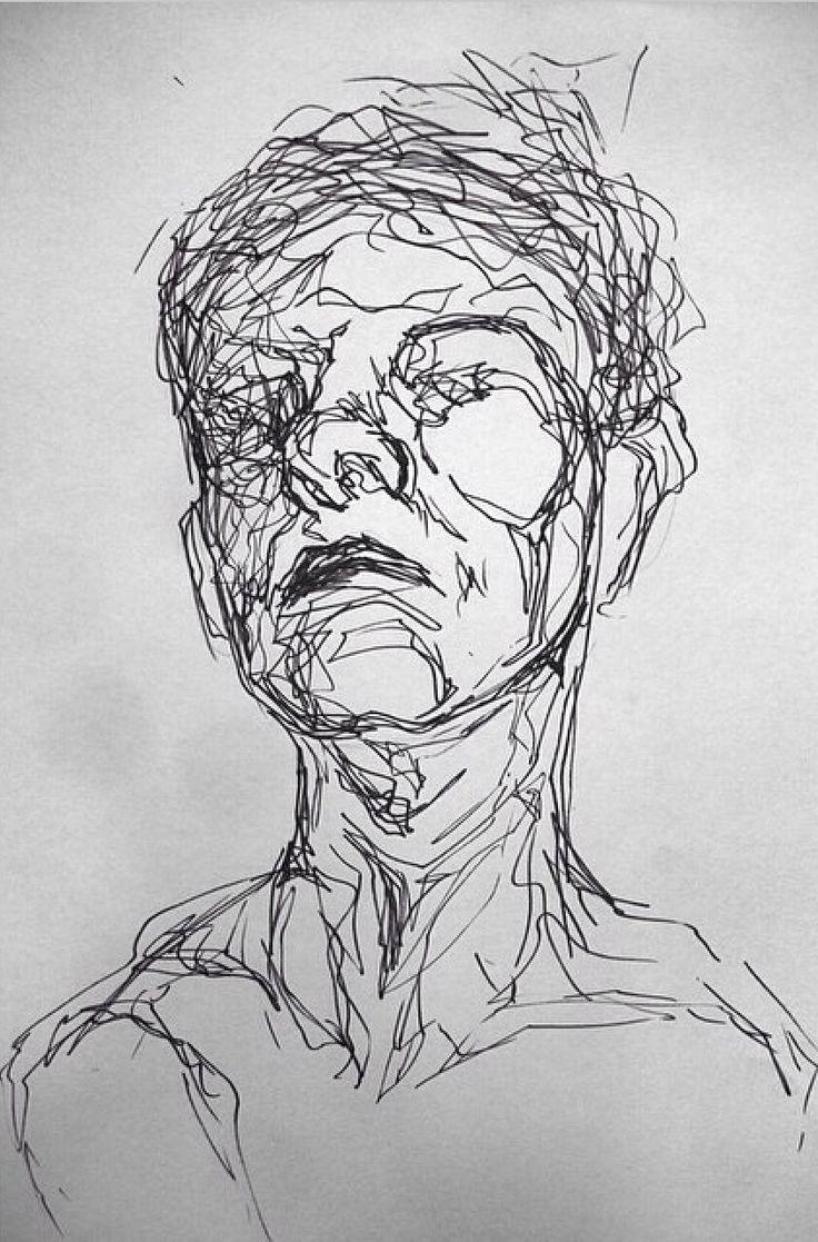 Drawn portrait fineliner Pinterest Studio art images on