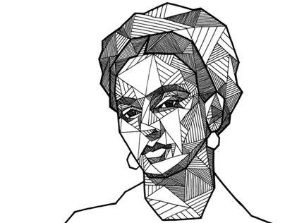 Drawn portrait geometric Images  18 Pinterest face