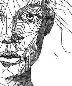 Drawn portrait geometric More 0 Find this Portrait