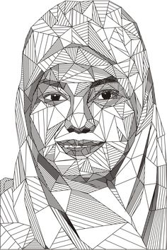 Drawn portrait geometric By Reeder GEOMETRICAL GRAPHIC