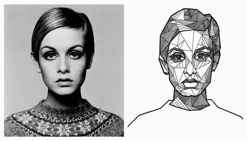 Drawn portrait geometric Geometric Pinterest geometric portrait