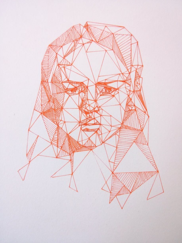 Drawn portrait geometric Portraits via Geometric portrait Art