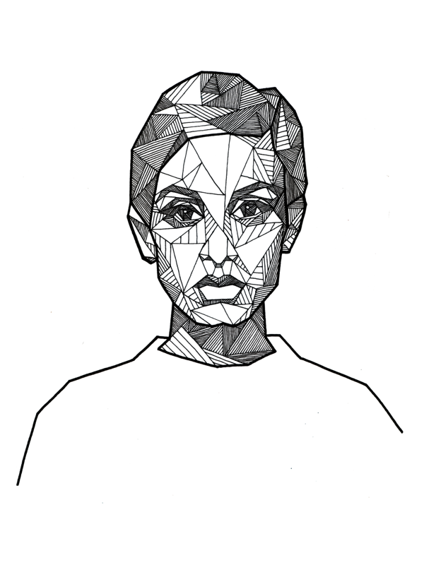 Drawn portrait geometric Allison Portraits Geometric Portraits by