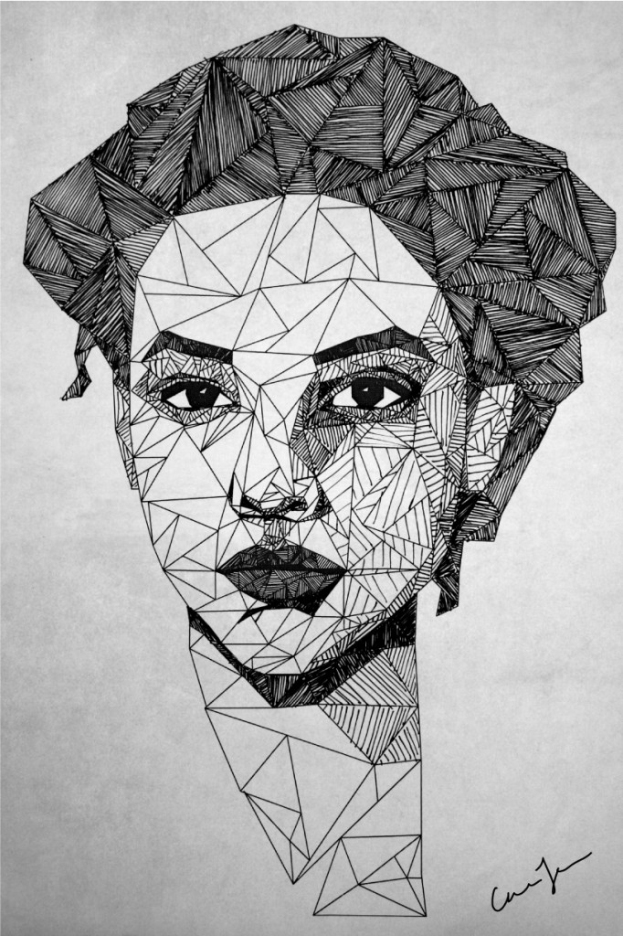 Drawn portrait geometric (via FacePortrait Illustration by IllustrationsDrawing