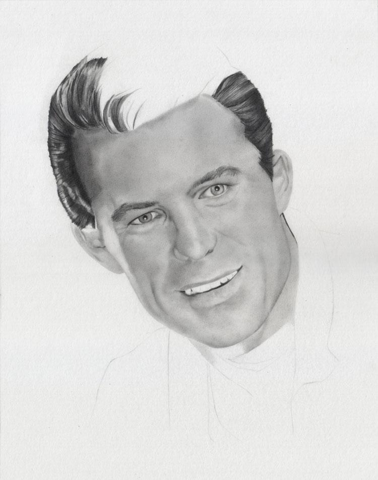 Drawn portrait graphite By 8 Drawing Stage Portrait