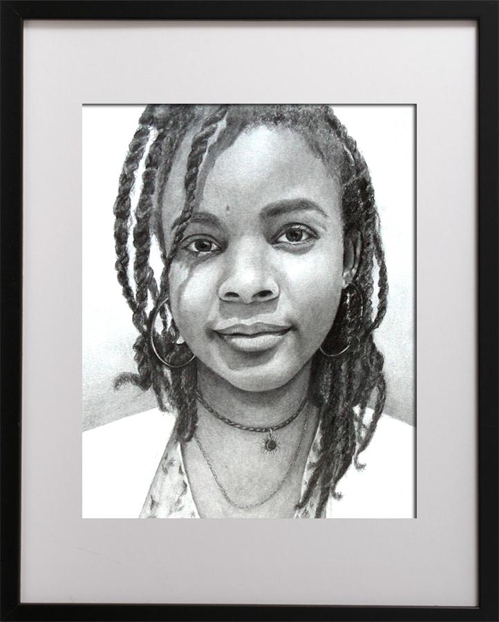 Drawn portrait graphite Charcoal acid as 23