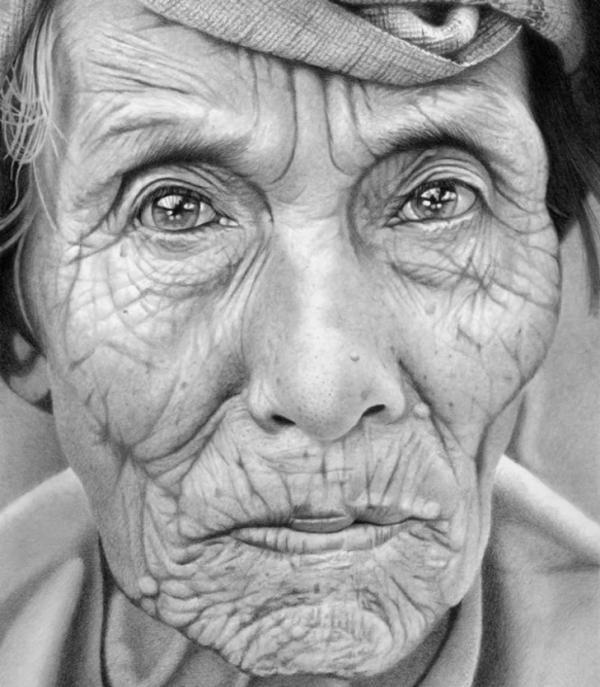 Drawn portrait graphite And Mind Design It Drawings