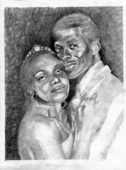 Drawn portrait hand drawn Artist Pencil Hand Portrait Visual