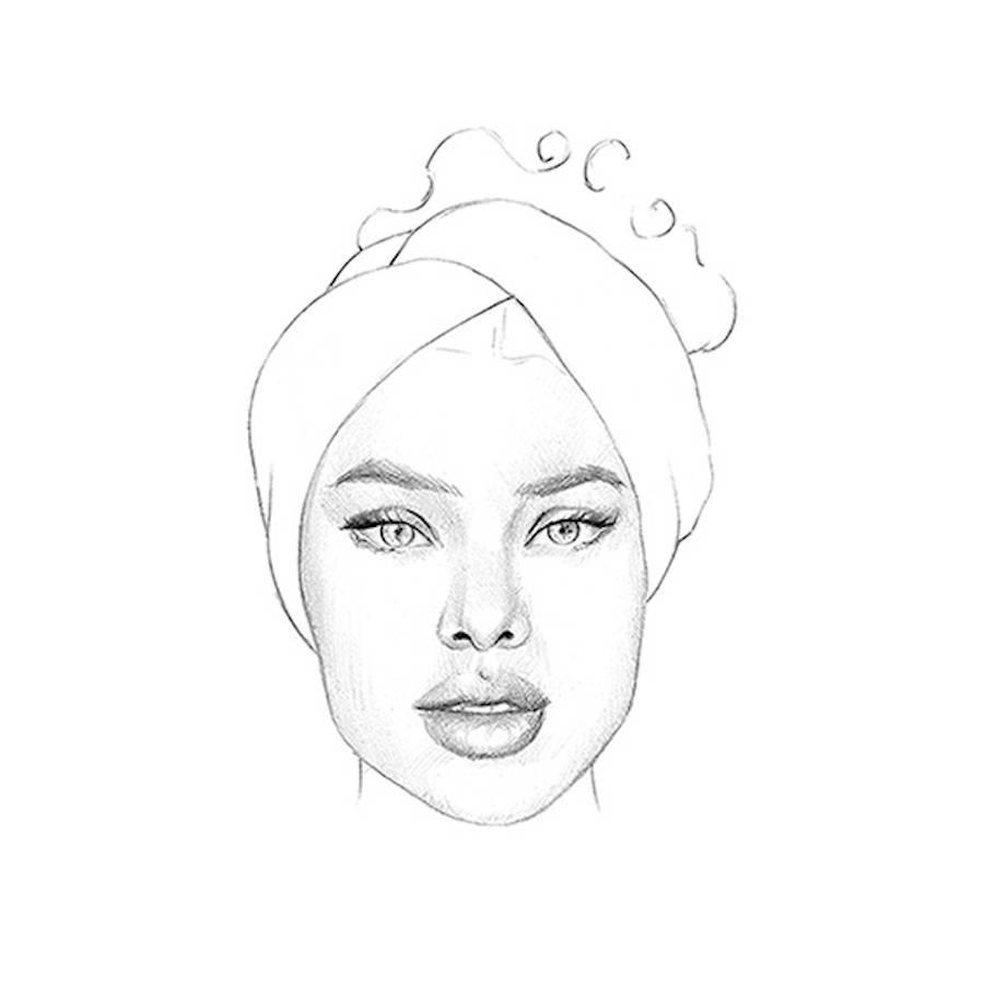 Drawn portrait hand drawn Yinka Malena for New The