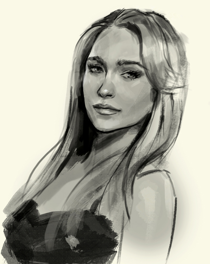 Drawn portrait hayden panettiere Claire Bennet and drawing How