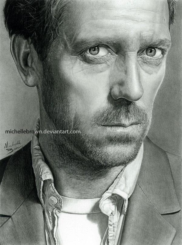 Drawn portrait hugh laurie By Hugh VencaSeitl Laurie Laurie