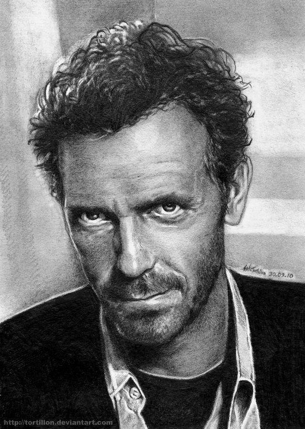 Drawn portrait hugh laurie Pencil Famous best images TortilloN