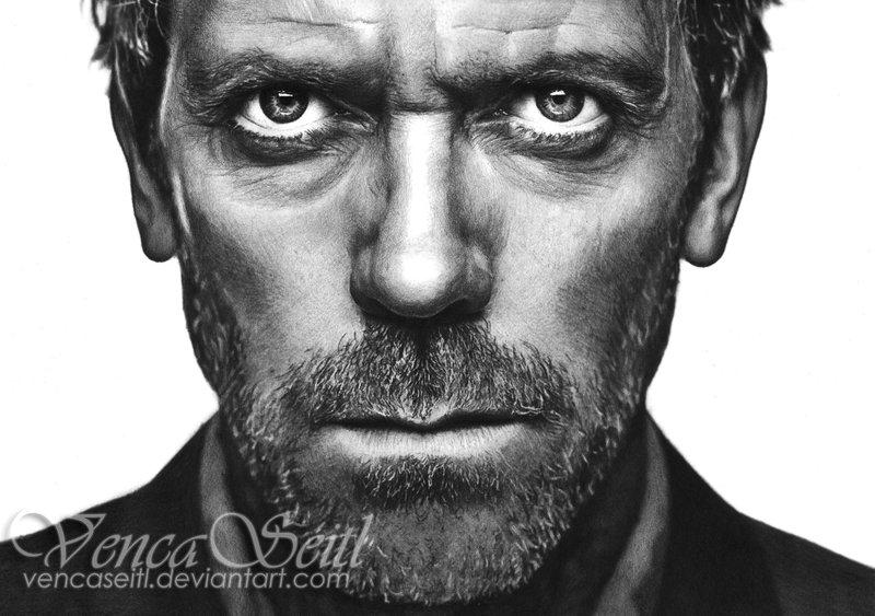Drawn portrait hugh laurie Hugh Hugh DeviantArt VencaSeitl Laurie