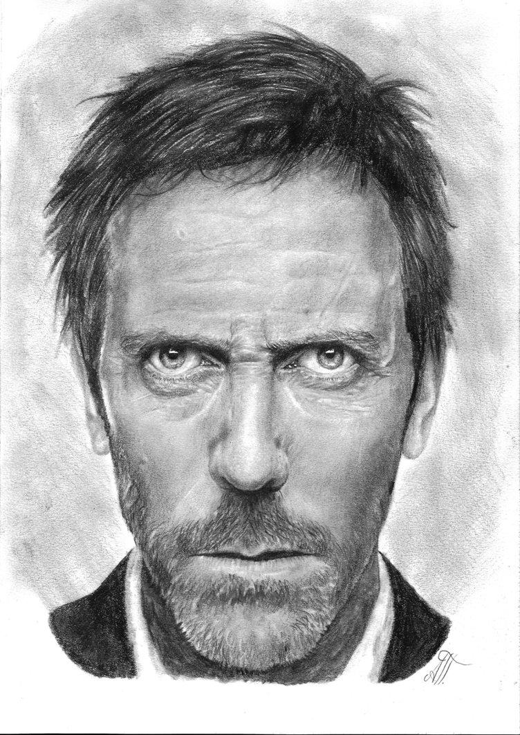 Drawn portrait hugh laurie Portrait Dr Hugh by Dr