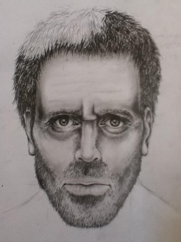 Drawn portrait hugh laurie By Drawing Laurie on of