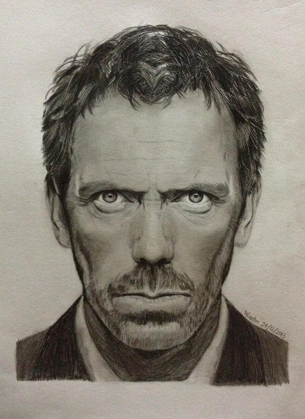 Drawn portrait hugh laurie (15 Dr  2013) 2013)