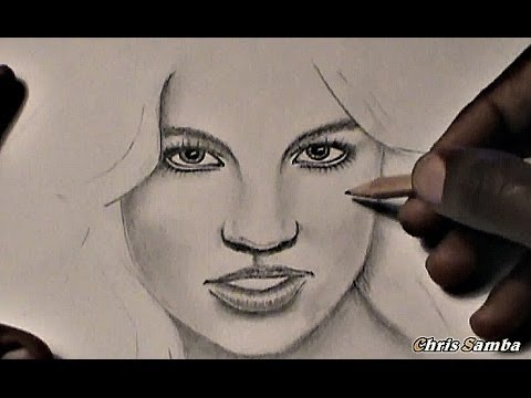 Drawn portrait human face GIRL REALISTIC DRAW beginners) DRAW