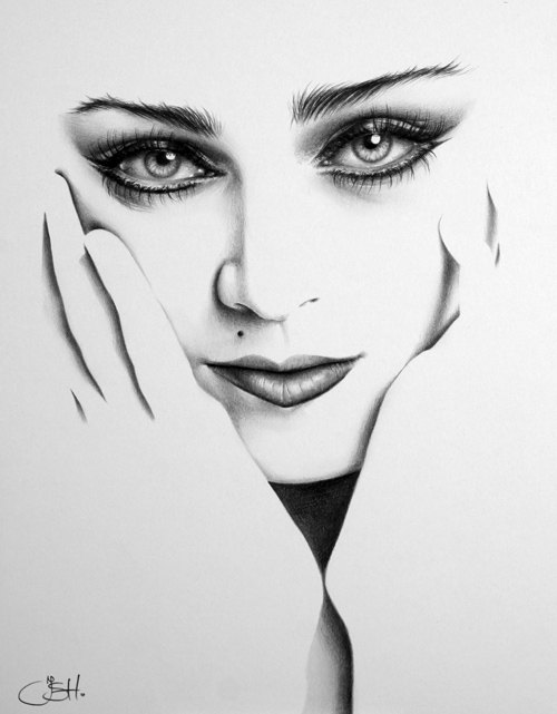 Drawn portrait hype Flapper Glamour  Pinup Vintage