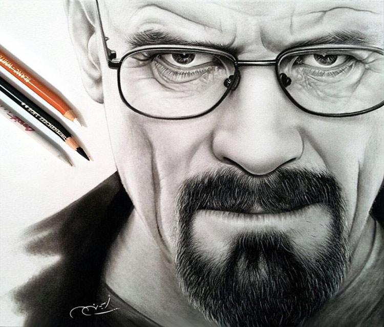 Drawn portrait hype By Heisenberg Arts of Arts