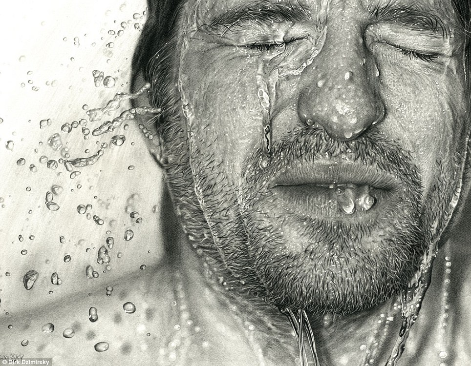 Drawn portrait hyperrealism The so  canvas! his