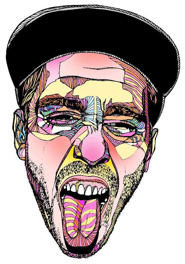 Drawn portrait illustrative Tongue Pinterest 634 about #print