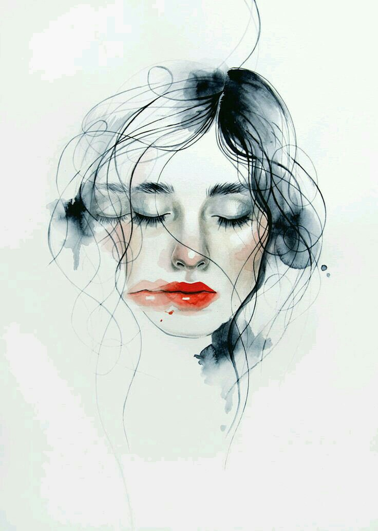 Drawn portrait illustrative Woman Abdullah gallery more! Pencil