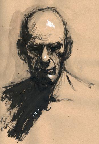 Drawn portrait ink Images portrait more ink study