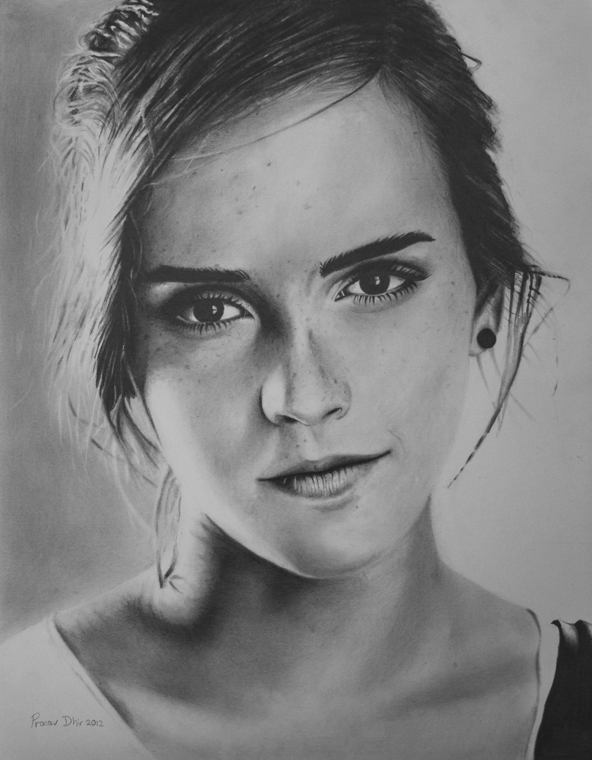 Drawn portrait interesting Amazing Watson drawings Drawing Emma