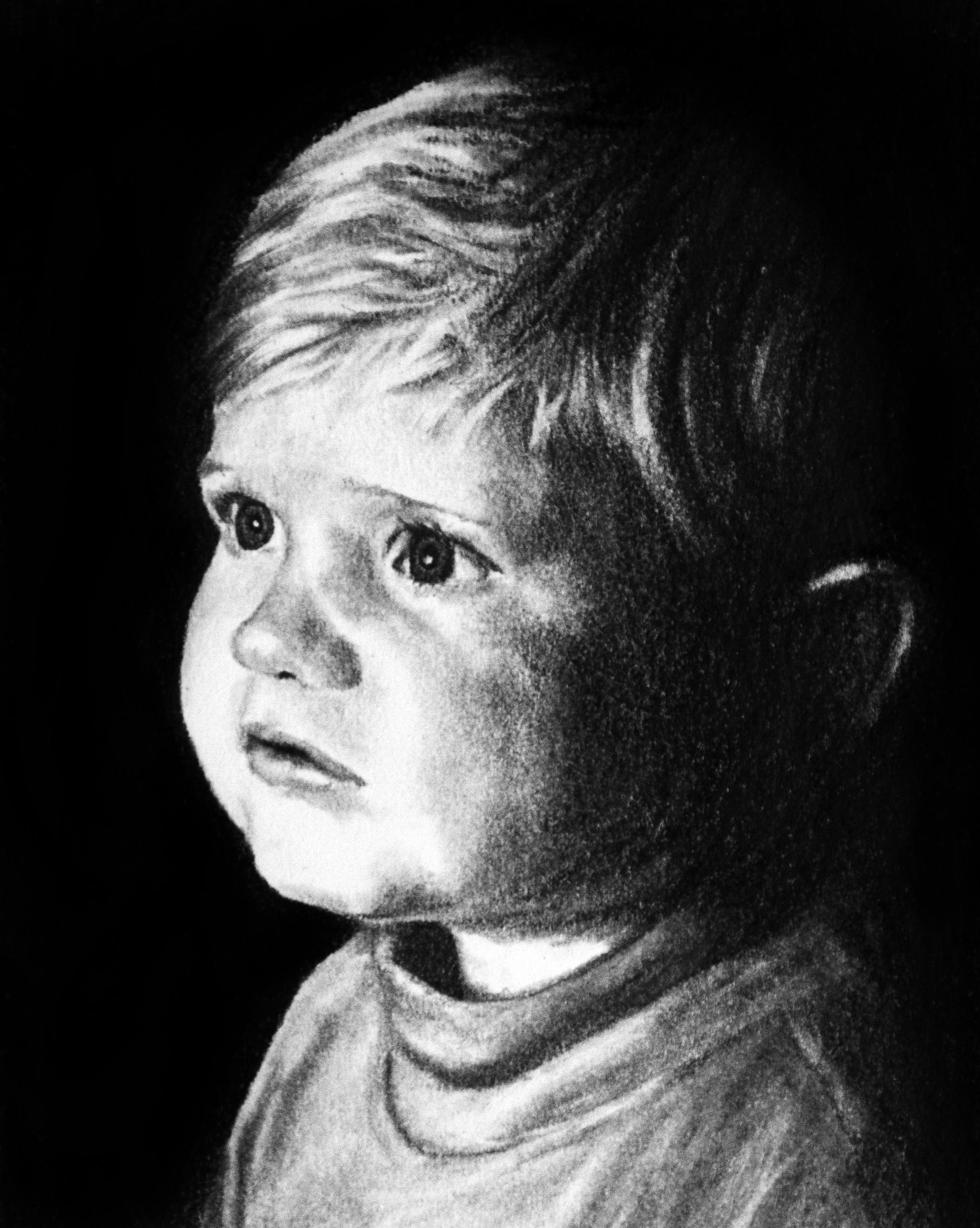 Drawn portrait kid Kid Child – John Drawing