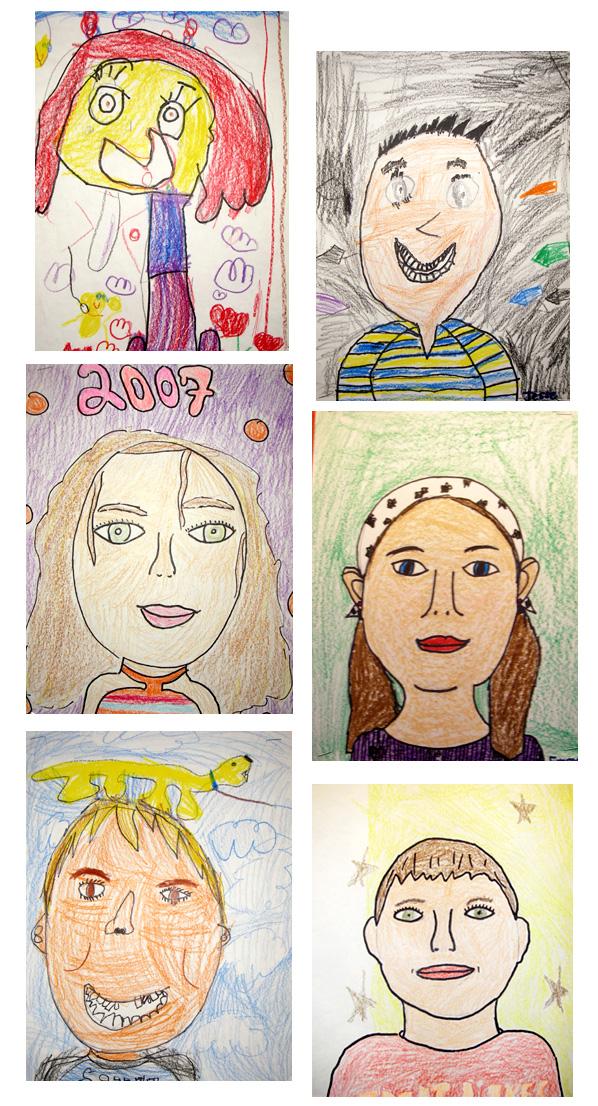 Drawn portrait kid Kindergarten Mrs with Art