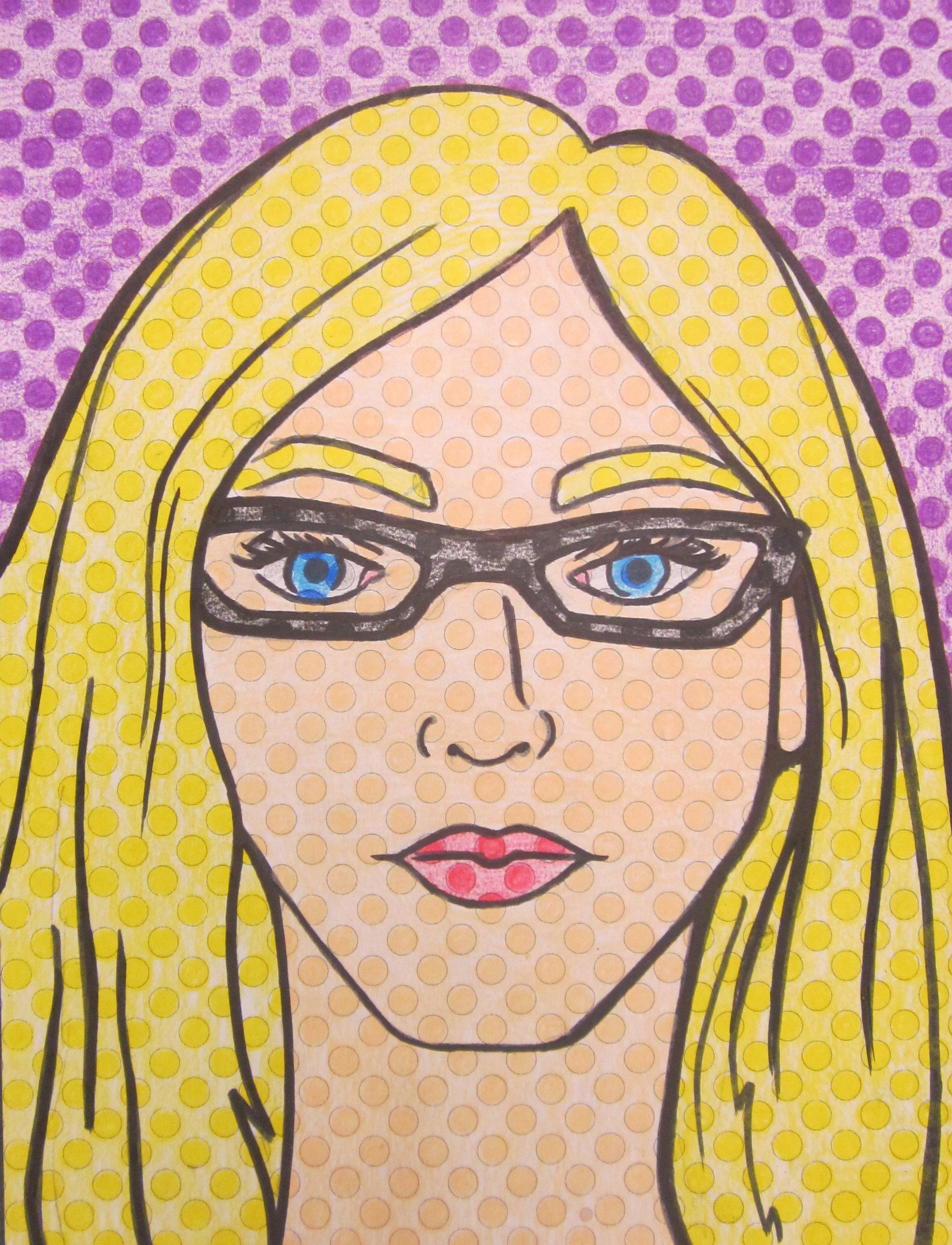 Drawn portrait kid Of Lichtenstein Lichtenstein school year