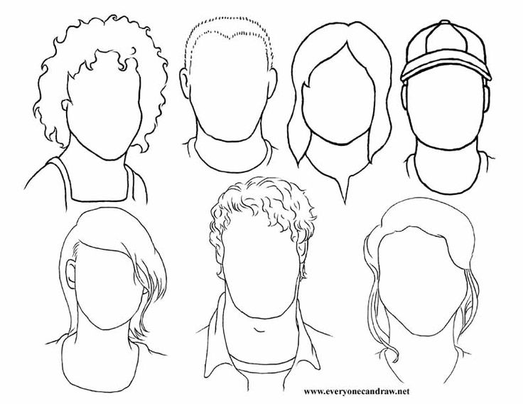 Drawn portrait line drawing Line guide down lines 20+