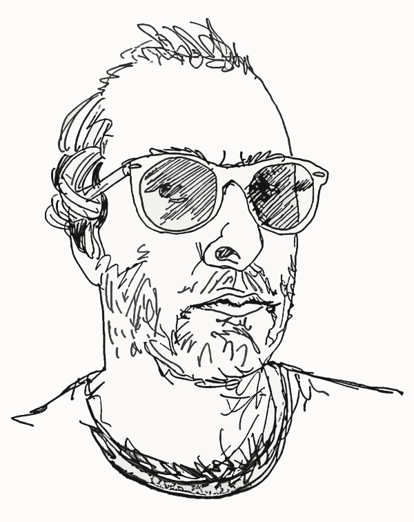 Drawn portrait line drawing Examples: Self Portfolio Portrait Jeremy